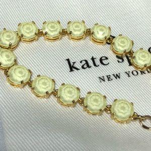Kate spade gold crystal bracelet